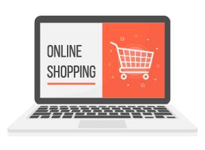 Quando conviene aprire un e-commerce - immagine computer shopping online