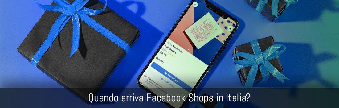 Quando arriva Facebook Shops in Italia Banner
